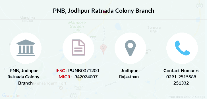 Punjab-national-bank Jodhpur-ratnada-colony branch