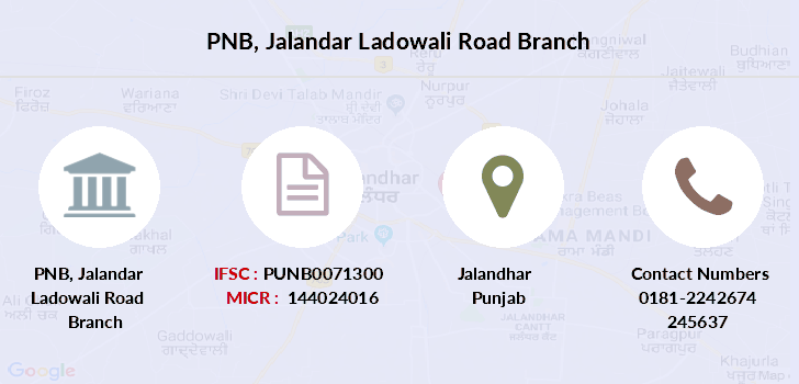 Punjab-national-bank Jalandar-ladowali-road branch