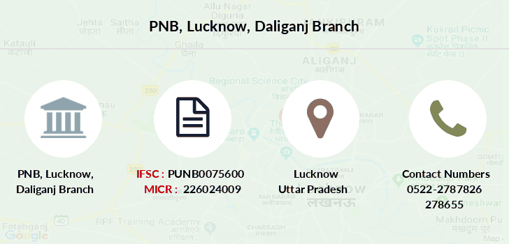 Punjab-national-bank Lucknow-daliganj branch