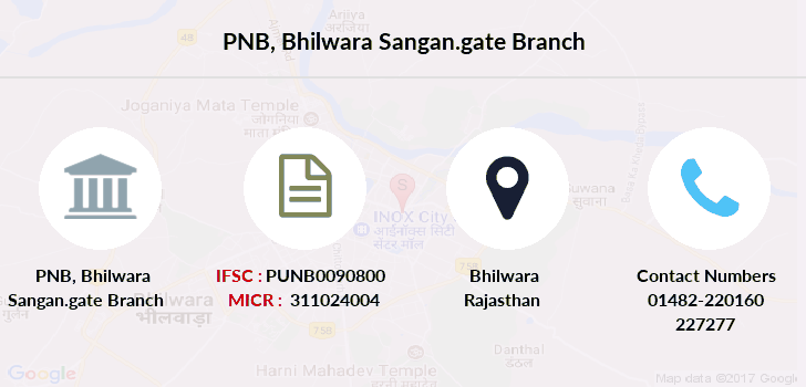 Punjab-national-bank Bhilwara-sangan-gate branch