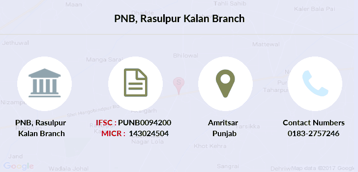 Punjab-national-bank Rasulpur-kalan branch