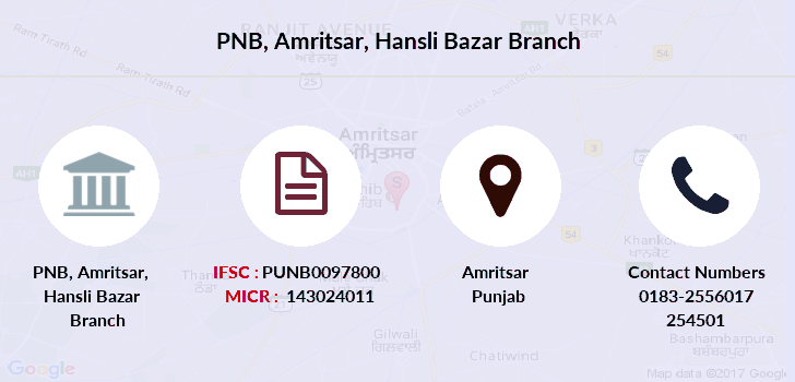 Punjab-national-bank Amritsar-hansli-bazar branch