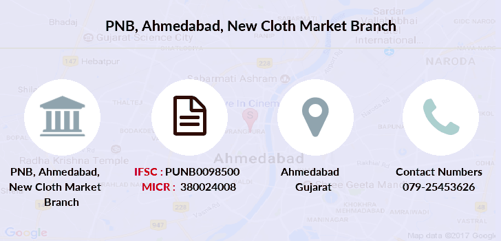 Punjab-national-bank Ahmedabad-new-cloth-market branch