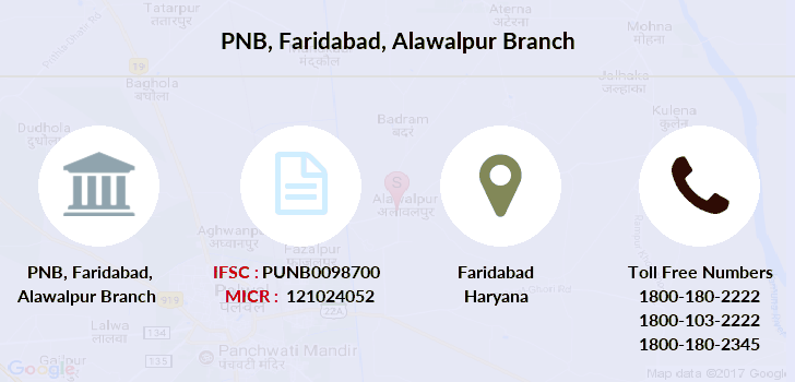 Punjab-national-bank Faridabad-alawalpur branch