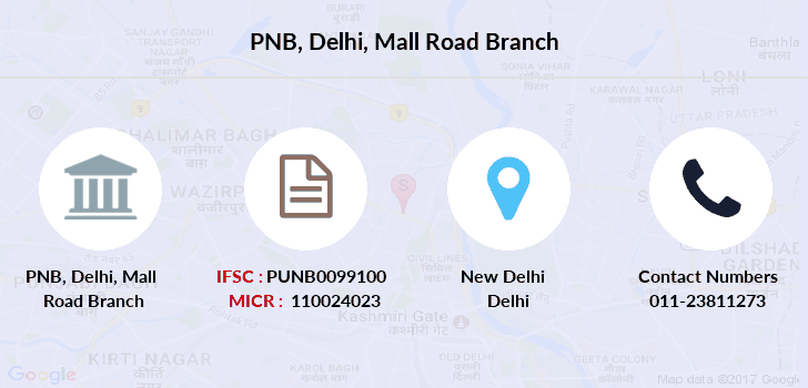 Punjab-national-bank Delhi-mall-road branch