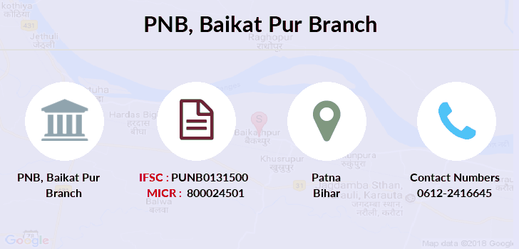 Punjab-national-bank Baikat-pur branch