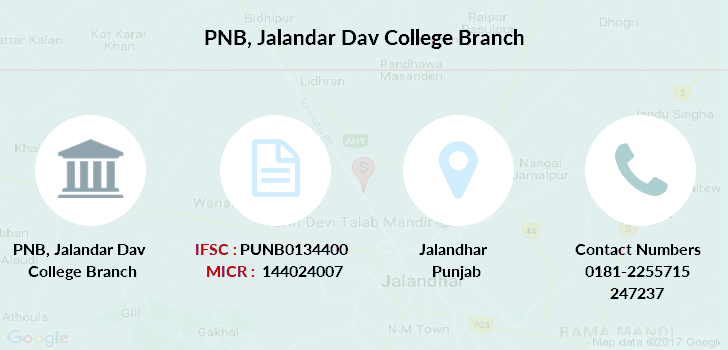 Punjab-national-bank Jalandar-dav-college branch