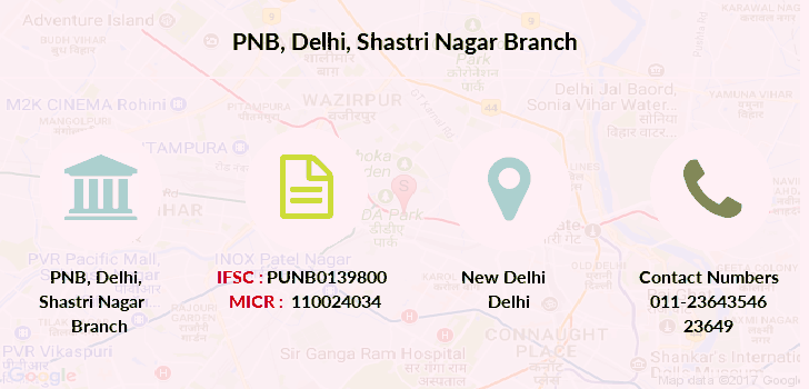 Punjab-national-bank Delhi-shastri-nagar branch