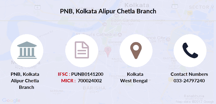 Punjab-national-bank Kolkata-alipur-chetla branch