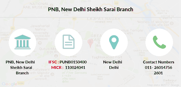 Punjab-national-bank New-delhi-sheikh-sarai branch