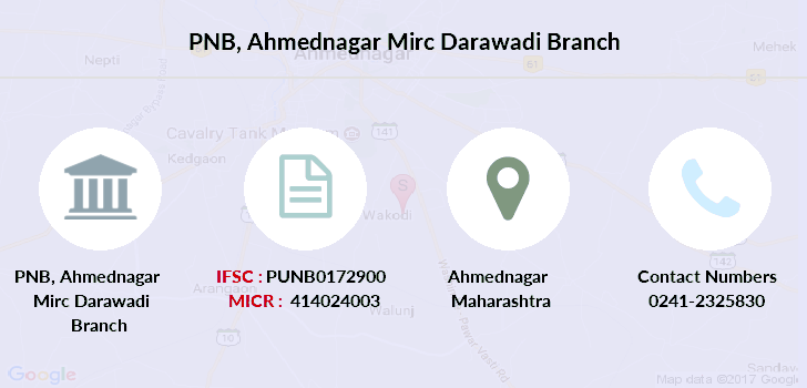 Punjab-national-bank Ahmednagar-mirc-darawadi branch