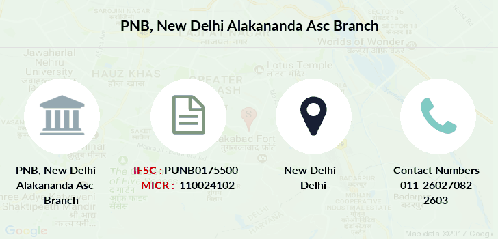 Punjab-national-bank New-delhi-alakananda-asc branch