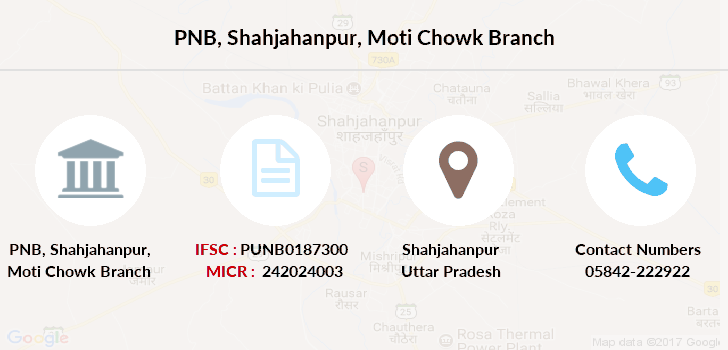 Punjab-national-bank Shahjahanpur-moti-chowk branch