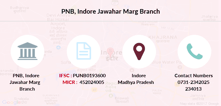 Punjab-national-bank Indore-jawahar-marg branch