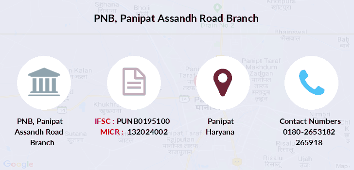 Punjab-national-bank Panipat-assandh-road branch