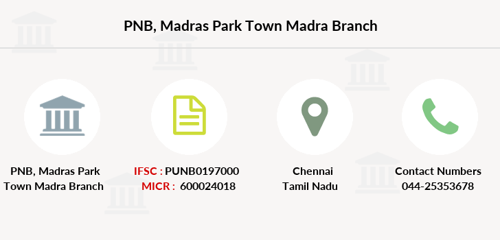 Punjab-national-bank Madras-park-town-madra branch