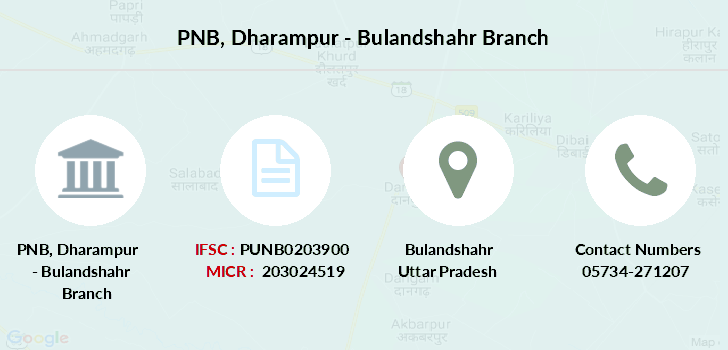 Punjab-national-bank Dharampur-bulandshahr branch