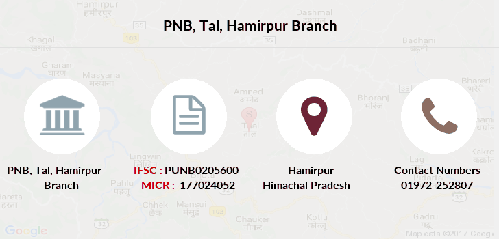 Punjab-national-bank Tal-hamirpur branch