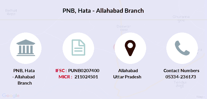Punjab-national-bank Hata-allahabad branch
