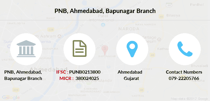Punjab-national-bank Ahmedabad-bapunagar branch