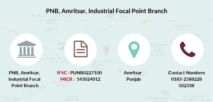 Punjab-national-bank Amritsar-industrial-focal-point branch