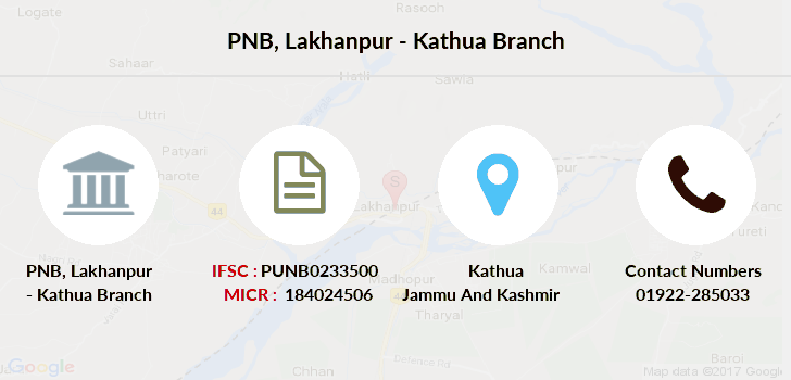 Punjab-national-bank Lakhanpur-kathua branch