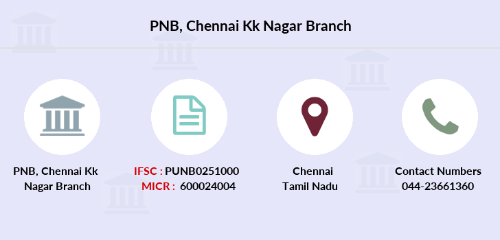 Punjab-national-bank Chennai-kk-nagar branch