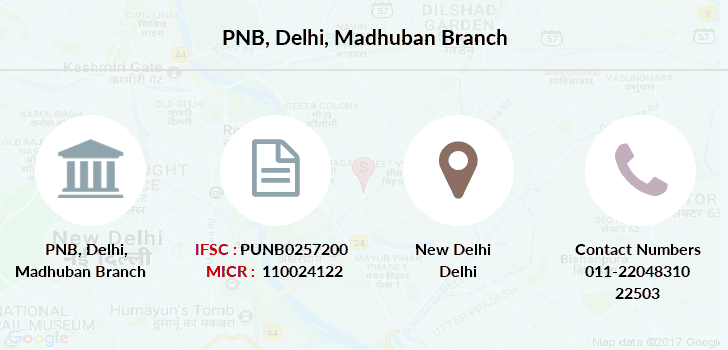 Punjab-national-bank Delhi-madhuban branch
