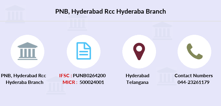 Punjab-national-bank Hyderabad-rcc-hyderaba branch