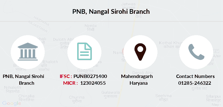 Punjab-national-bank Nangal-sirohi branch
