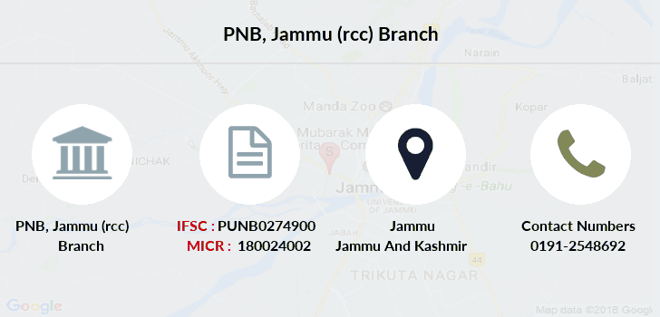 Punjab-national-bank Jammu-rcc branch