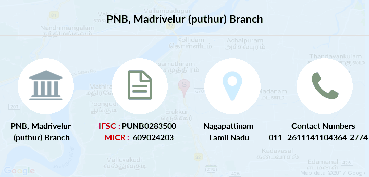 Punjab-national-bank Madrivelur-puthur branch