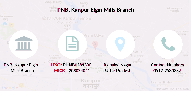 Punjab-national-bank Kanpur-elgin-mills branch