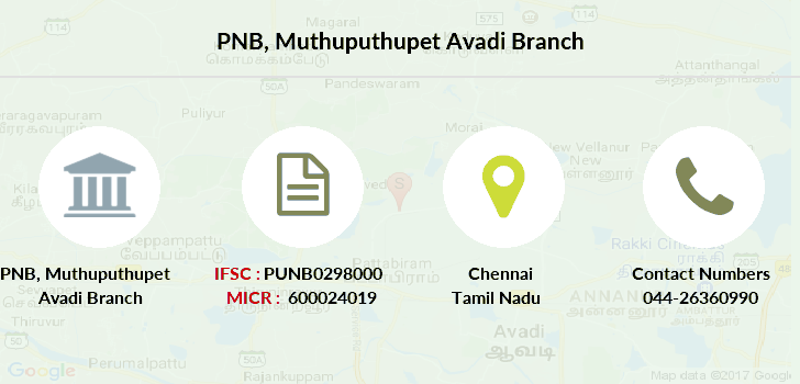 Punjab-national-bank Muthuputhupet-avadi branch