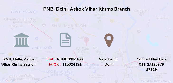 Punjab-national-bank Delhi-ashok-vihar-khrms branch