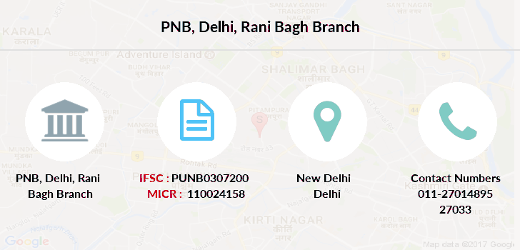 Punjab-national-bank Delhi-rani-bagh branch