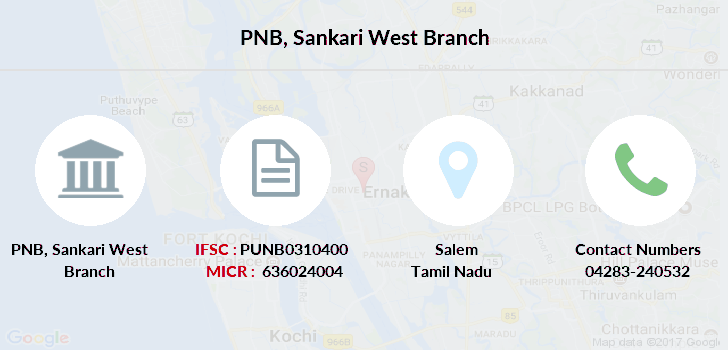 Punjab-national-bank Sankari-west branch