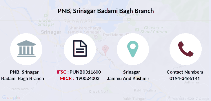 Punjab-national-bank Srinagar-badami-bagh branch