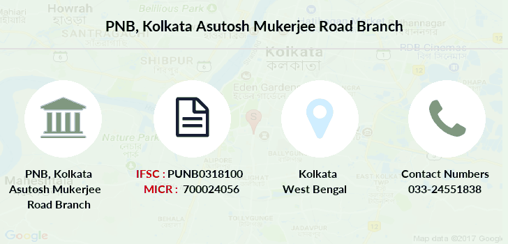Punjab-national-bank Kolkata-asutosh-mukerjee-road branch
