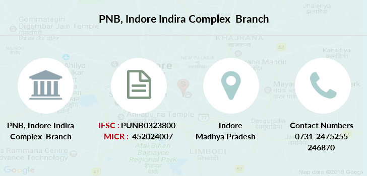 Punjab-national-bank Indore-indira-complex branch