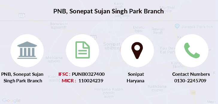 Punjab-national-bank Sonepat-sujan-singh-park branch