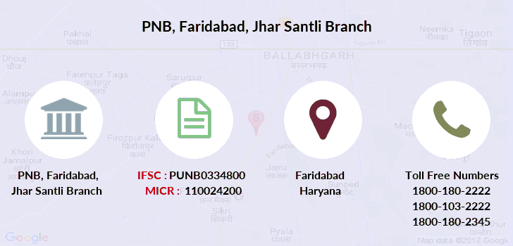 Punjab-national-bank Faridabad-jhar-santli branch