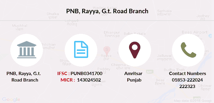 Punjab-national-bank Rayya-g-t-road branch