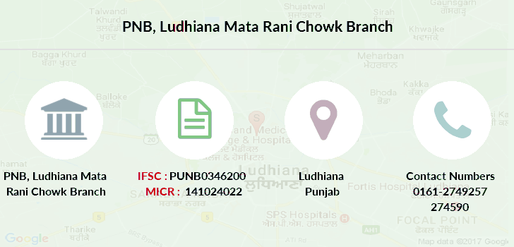 Punjab-national-bank Ludhiana-mata-rani-chowk branch