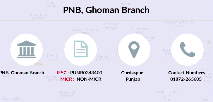 Punjab-national-bank Ghoman branch