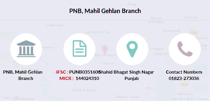 Punjab-national-bank Mahil-gehlan branch