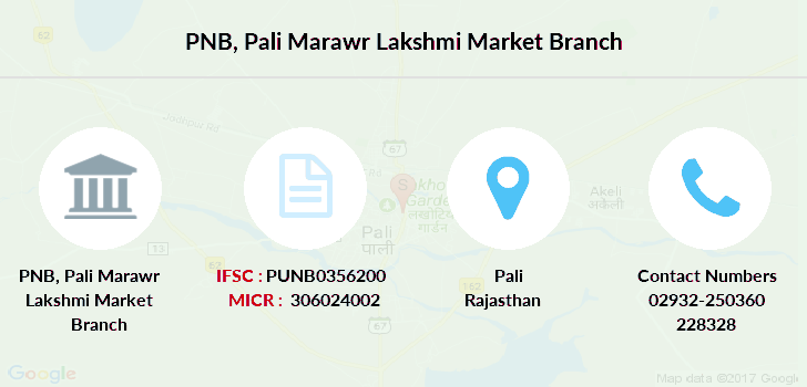Punjab-national-bank Pali-marawr-lakshmi-market branch
