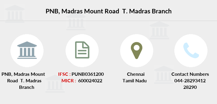 Punjab-national-bank Madras-mount-road-t-madras branch
