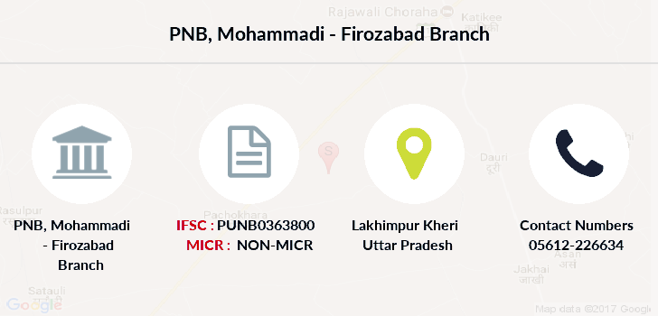 Punjab-national-bank Mohammadi-firozabad branch