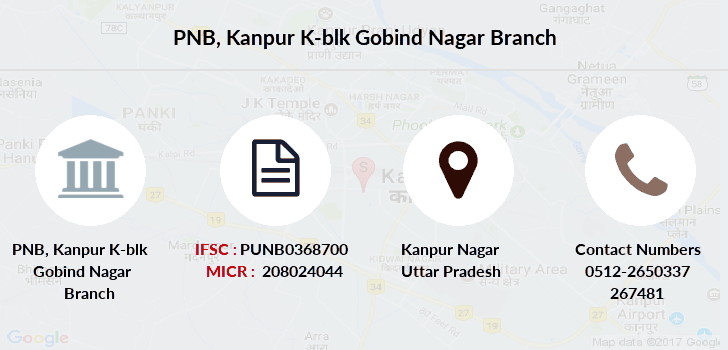 Punjab-national-bank Kanpur-k-blk-gobind-nagar branch
